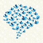 Постер, плакат: Twitting social birds campaign