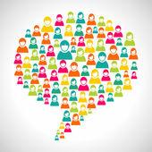 çeşitlilik konuşma balonu — Stok Vektör
