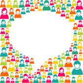 Konuşma balonu pazarlama kampanyası — Stok Vektör