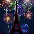 Fireworks Happy New Year Paris city — Stock Photo #16759595