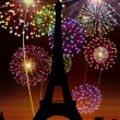 Fireworks Happy New Year Paris city — Stock Photo #16759605