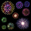 Happy New Year Fireworks set — Stock Photo #16759655