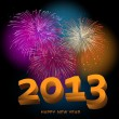 Happy New Year 2013 fireworks — Stock Vector