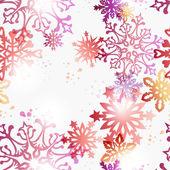 圣诞当代雪花图案 — 图库矢量图片