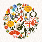 Chinese New Year of the Snake circle — Stock Vector