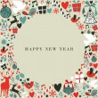 Christmas icons 2013 happy new year — Stock Vector