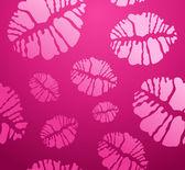 POP lipstick Kiss shape pattern — Stock Vector