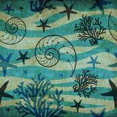 Vintage Shells and starfish pattern — Foto Stock