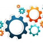 Working gears teamwork — Stock Vector