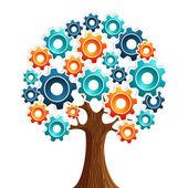 Tecnology engine tree — Stock Vector