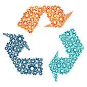 Environment machine collaboration concept — Vecteur