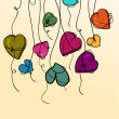 Royalty-Free Stock Vector Image: Valentine flowers heart hanging background