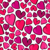 Valentine love heart pattern — Stock Vector