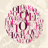 Valentine love text circle — Stock Vector