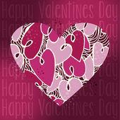 Valentine love heart greeting card — Stock Vector