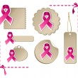 Breast cancer awareness set - Stock Vector