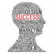 Marketing success head communication — 图库矢量图片
