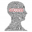 Marketing success head communication — Image vectorielle