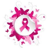 蝶乳がんの意識 — ストックベクタ