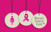Breast cancer care hangtags — Stock Vector