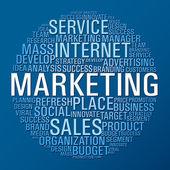 Marketing circle communication — Stock Vector