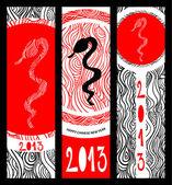 Establece el año nuevo chino de la serpiente — Foto de Stock
