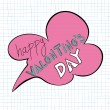 Happy Valentines day speech bubble — Stock Vector #20024361