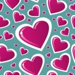 Valentine pink love heart pattern — Stock Vector #20024399