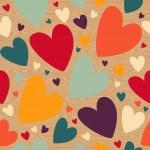 Valentine wooden heart pattern — Stock Vector #20024525