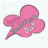 Bocadillo de diálogo feliz día de san valentín — Vector de stock