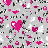 Valentinstag liebe muster — Stockvektor