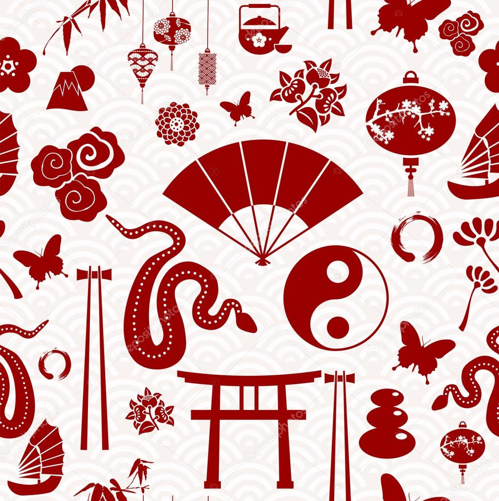 Chinese New Year of the Snake pattern — Stock Vector ...
