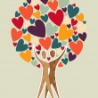 Family tree of love — Stock Vector