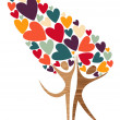 Diversity tree of love — Stock Vector