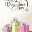 Valentine gift greeting card — Vector de stock