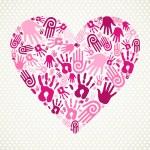 Hand love heart — Stock Vector