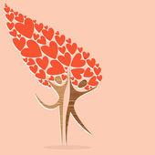 Diversity tree of love — Stock Vector
