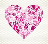 Love heart de mano — Vector de stock