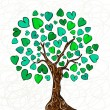 Stock Vector: Love concept tree