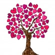 Stock Vector: Love concept tree card