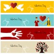 Valentine love banner set — Stock Vector