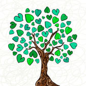 Love concept tree — Stock Vector