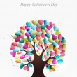 Love hearts concept tree — Vettoriali Stock