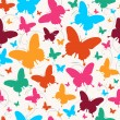 Spring butterfly pattern — Stock Vector