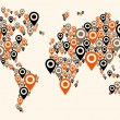 Royalty-Free Stock : Gps world map background