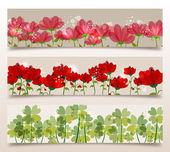 Spring transparency banners — Stock Vector