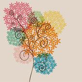 透明性の花をクルクル回す — ストックベクタ