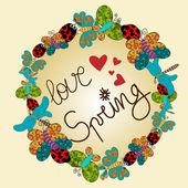 Spring love composition — Stock Vector