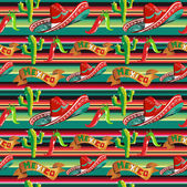 Mexican typical pattern — Stock Vector