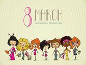Diversity 8 march Women Day — Stock Vector